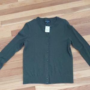 NWT- J.Crew Forest Green Cardigan S